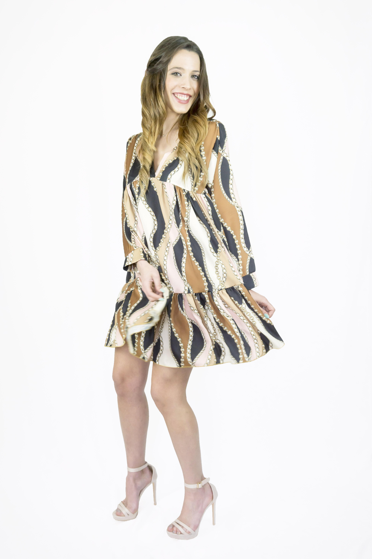new style a7fc0 ece7e Vestito casual con stampo a tema