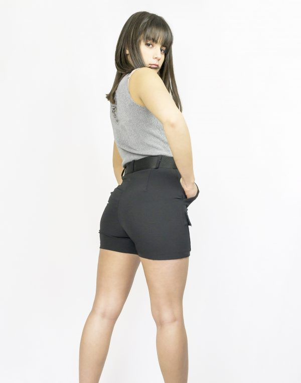 nastistyle-nasti-abbigliamentodonna-negozioonline-shoponline-pantaloncinocorto-short-nero-cintura-cargo-body-grigio-skinny