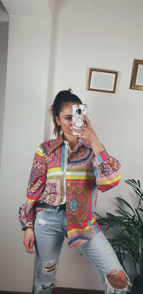 nastistyle-shoponline-abbigliamentodonna-fashion-camiciajacquard-camiciafantasiacolorata-camiciarossa-camicianero-camicianero-blusa