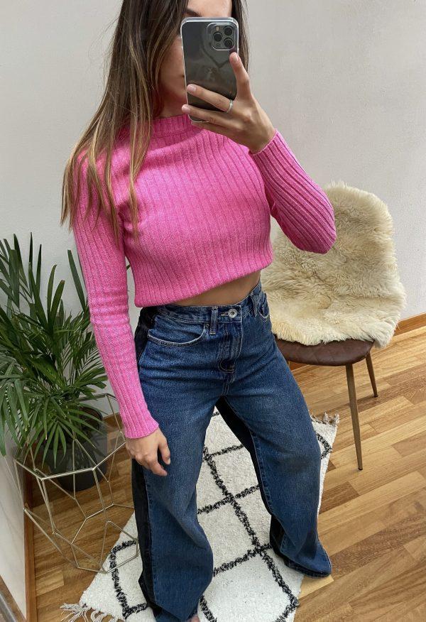 nastistyle-shoponline-abbigliamentodonna-maglioneacostine-maglionerosa